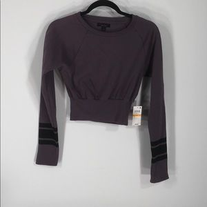 Material girl active long sleeve Short shirt